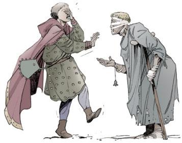 Francesco d'Assisi e il lebbroso